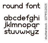 simple round font lowcase... | Shutterstock .eps vector #1079512025