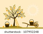 Vector Apple Tree And Hand...