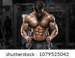 sexy muscular man in gym ... | Shutterstock . vector #1079525042