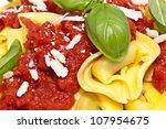 fresh tortellini wit parmesan... | Shutterstock . vector #107954675