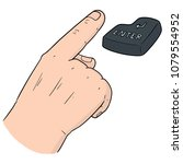vector set of hand and enter... | Shutterstock .eps vector #1079554952
