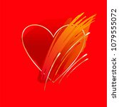 brush strokes in red tones and...   Shutterstock .eps vector #1079555072