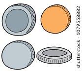 vector set of coins | Shutterstock .eps vector #1079558882