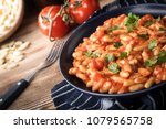 cavatelli pasta with fresh... | Shutterstock . vector #1079565758