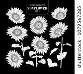 set of isolated white... | Shutterstock .eps vector #1079567285