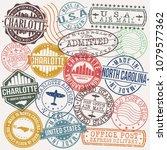 charlotte north carolina stamp... | Shutterstock .eps vector #1079577362