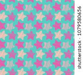 cute seamless pattern with... | Shutterstock .eps vector #1079580656