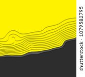 black and yellow wave. abstract ...   Shutterstock .eps vector #1079582795
