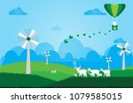 ecology with animal in the...   Shutterstock .eps vector #1079585015