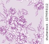 vector floral seamless pattern... | Shutterstock .eps vector #1079593112