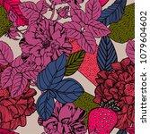 spring flowers seamless... | Shutterstock .eps vector #1079604602