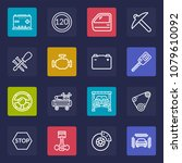thin line icons set of car... | Shutterstock .eps vector #1079610092