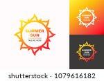 vector summer sun logo set... | Shutterstock .eps vector #1079616182