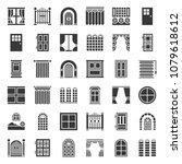 modern and vintage door and... | Shutterstock .eps vector #1079618612