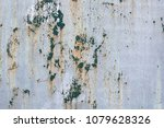shabby painted metal surface.... | Shutterstock . vector #1079628326