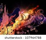 arrangement of girl silhouette  ... | Shutterstock . vector #107964788