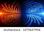 fingerprint scanning... | Shutterstock .eps vector #1079647946