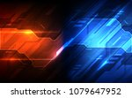 vector abstract futuristic high ... | Shutterstock .eps vector #1079647952