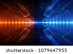vector abstract futuristic high ... | Shutterstock .eps vector #1079647955