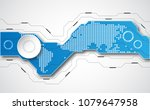 abstract technological... | Shutterstock .eps vector #1079647958