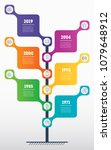 vertical time line infographics ... | Shutterstock .eps vector #1079648912