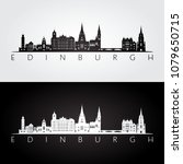 edinburgh skyline and landmarks ... | Shutterstock .eps vector #1079650715