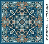 vector ornament paisley bandana ... | Shutterstock .eps vector #1079652035
