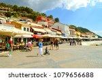 paxos harbour  greece   october ... | Shutterstock . vector #1079656688