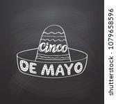 cinco de mayo hand drawn... | Shutterstock .eps vector #1079658596