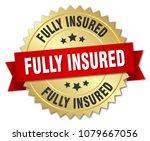 fully insured round isolated... | Shutterstock .eps vector #1079667056
