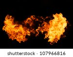 fire isolated on black... | Shutterstock . vector #107966816