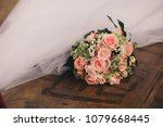wedding bouquets as decor | Shutterstock . vector #1079668445
