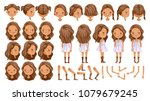 little girls character creation ... | Shutterstock .eps vector #1079679245