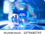 core values business and... | Shutterstock . vector #1079680745