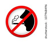 no smoking sign on white... | Shutterstock .eps vector #107968496