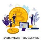 vector illustration finance.... | Shutterstock .eps vector #1079685932