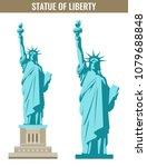 statue of liberty. world... | Shutterstock .eps vector #1079688848