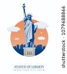 statue of liberty. world... | Shutterstock .eps vector #1079688866