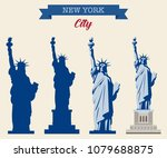 statue of liberty. world... | Shutterstock .eps vector #1079688875