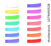 colorful stickers set isolated... | Shutterstock .eps vector #1079690528