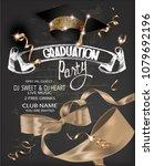 graduation party 2018 banner... | Shutterstock .eps vector #1079692196