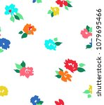 seamless pattern with flowers....   Shutterstock .eps vector #1079695466