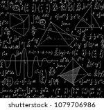 scientific math vector seamless ... | Shutterstock .eps vector #1079706986