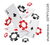 falling aces and casino chips... | Shutterstock .eps vector #1079711135