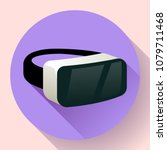 vr glasses icon or virtual... | Shutterstock .eps vector #1079711468