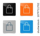 web icons of shopping bag.... | Shutterstock .eps vector #1079711702