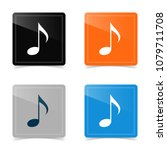 web icons of music note. vector ... | Shutterstock .eps vector #1079711708