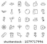 thin line icon set  ... | Shutterstock .eps vector #1079717996