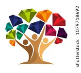 icon of tree illustration with... | Shutterstock .eps vector #1079718692