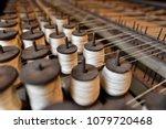 Thread Spools On A Vintage Loom ...
